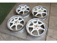 "Genuine Enkei RS Evolution Split 17"" Alloy wheels 5x100 JDM Subaru Impreza BRZ GT86 Legacy Celica"