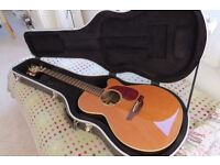Takamine Electro Acoustic Guitar + Takamine Case + Leather Strap