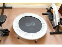 3 Piece Home Gym Set! Eliptical Trainer, Rowing Machine & Mini Trampoline