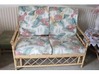 ***A TWO SEATER BAMBOO HIGH BACKED SETTEE ***