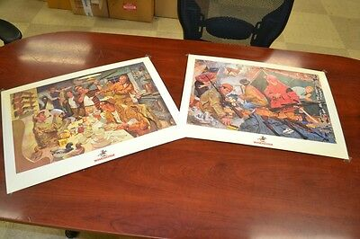 2 Prints - winchester duck hunting and deer hunting advertising - Mint