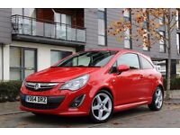 2014 VAUXHALL CORSA SXI AC RED 1.2 (TOP SPEC)( LOW MILEAGE)