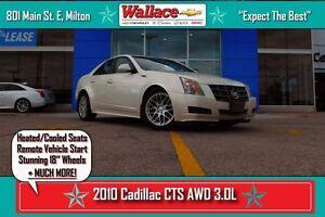 2010 Cadillac CTS 3.0L/NEW RIMS/HTD&CLD STS/RMT SRT/PARK ASSIST