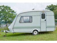 Lovely little two berth caravan