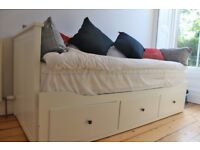 Ikea Hemnes Day-bed (White) with 2 Malfor Mattresses