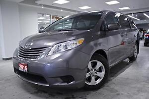 2016 Toyota Sienna LE, PWR SLIDING DOORS, ALLOYS, NO ACCIDENT, F