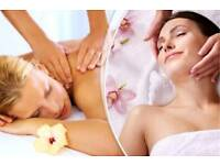 Full facial ,back & leg massage