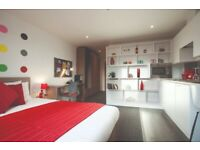 STUDENT ROOMS TO RENT IN GLASGOW. STUDIO WITH PRIVATE ROOM, PRIVATE BATHROOM AND PRIVATE KITCHEN