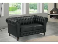 ⭐️FURNITURE ON DEMAND⭐️CHESTERFIELD PU LEATHER SOFA 2 SEATER-CASH ON DELIVERY-Order Now..