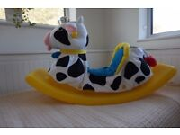 Rocking cow with machine washable cover