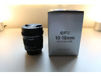 Canon 10-18mm F/4.5-5.6 STM IS EF-S Lens USED ONCE!!!
