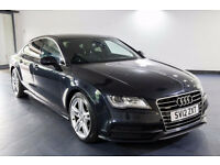 2012 12 AUDI A7 3.0 S LINE TDI QUATTRO AUTO BLUE 1 OWNER(PART EX WELCOME)***FINANCE AVAILABLE*