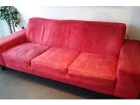 Red Sofa 3 seater
