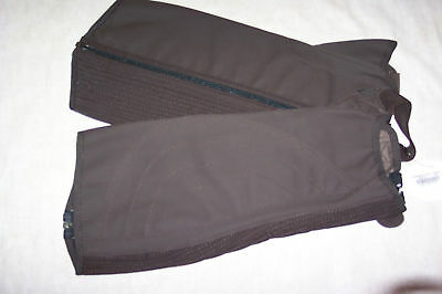 HALF CHAPS SUEDE FEEL BROWN XL 15.5 CALF 17 HEIGHT NEW