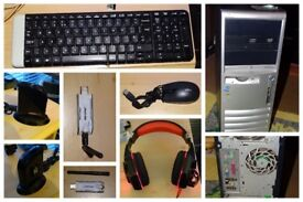 Windows 7 HP Compaq dc7100 3GB Ram 149GB Hard Drive Fast Home Desktop Tower PC