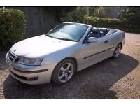 Saab 93 Convertible, 76k FSH, VGC, 2.0t, silver, grey leather, long mot, have fun this summer!