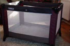 MAMAS AND PAPAS TRAVEL COT & PLAYPEN in 1, sturdy, in v. good condition - collect nr. Swansea Valley