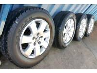 "16"" GENUINE VW T5 TRANSPORTER MIYATO LOAD RATED ALLOY WHEELS AND TYRES 5X120 PCD"
