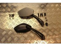 Motorcycle E MARKED MIRRORS LEFT RIGHT THREAD 8mm & 10mm