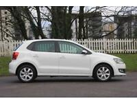 VOLKSWAGEN POLO 1.2 MATCH EDITION 5d 59 BHP RAC WARRANTY + BREAKDOWN COVER!! (white) 2013