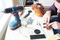 Instrument Repair Setup Violin Guitar Clarinet Flute Piano etc