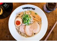 Chefs for award winning ramen restaurant TONKOTSU