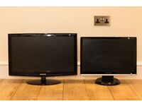 "2x Samsung PC Monitors (24"" & 20"")"