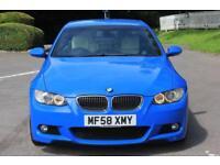 BMW 3 SERIES 3.0 330I M SPORT 2d AUTO 269 BHP RAC WARRANTY + BR (blue) 2008