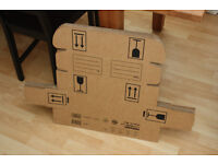 Pack of 9 cardboard packaging boxes for posting wine or spirits bottles
