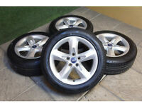 "Genuine FORD 16"" Alloy wheels & Tyres 5x108 Focus MK2 Transit Connect Mondeo"