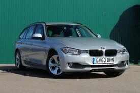 BMW 3 SERIES 320d EfficientDynamics [Business Media, Sat Nav] 5dr (silver) 2014