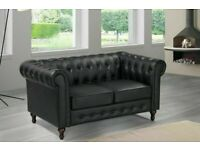 🌱FURNITURE IN STORES🌱CHESTERFIELD PU LEATHER SOFA 2 SEATER-CASH ON DELIVERY