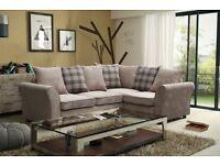 Beige corner sofa - £450