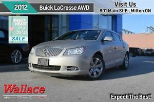 2012 Buick LaCrosse AWD/LUXURY PKG/1-OWNER/NO ACCIDENTS/NAV/HTD