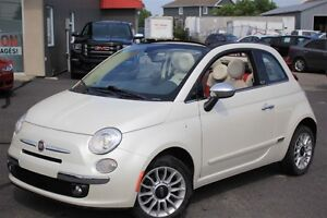 2012 Fiat 500C Lounge+ CONVERTIBLE+ CUIR