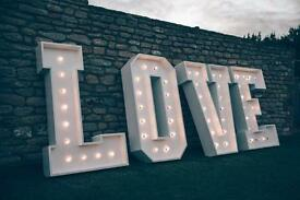 4ft giant love letters weddings and events
