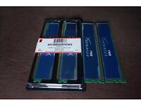 Kingston HyperX Blu DDR3 1600MHZ 4X4GB Memory