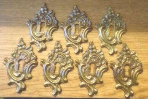 "7 - Antique ""Style"" Cast Keyhole Covers ...1 7/8"" x 3"""