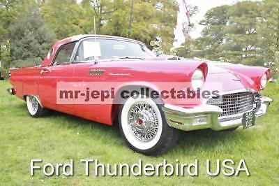 "Thunderbird USA   Classic   Car  Photo  6""  x  4"""