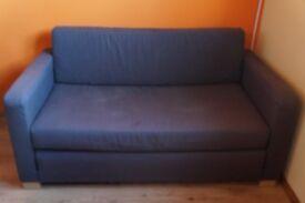 Small Two Seater Sofa bed Ikea Grey Fabric