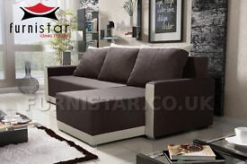 QUALITY CORNER SOFA BED / STORAGE / UNIVERSAL CHAISE / SLEEPING AREA / MANY COLOURS AVAILABLE