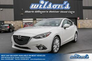2014 Mazda MAZDA3 GT-SKYACTIV SEDAN! LEATHER! NAVIGATION! SUNROO