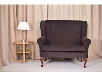 **Brand New** 2 Seater Sofa in a Chocolate Dimple Fabric with FREE Chair