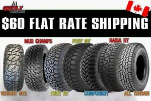 $60 TO SHIP 4 TIRES ANYWHERE IN CANADA !!! Lowest Prices NATIONWIDE !!! BLOW OUT DEALS !!!