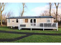 Three bedroom, 8 berth, Swift serenity caravan with decking and patio area