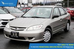 2005 Honda Civic SE AM/FM Radio and Air Conditioning
