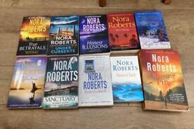 Bundle of Nora Roberts books Romance Thriller etc