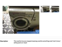 Dyson washing machine spares or repairs