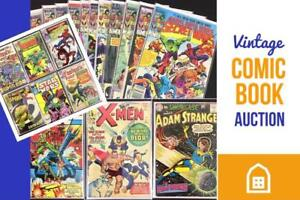 VINTAGE COMIC AUCTION! Rare, Mint, Marvel, DC, Spiderman, Batman, Golden Age Issues, Private Collection, Online Auction