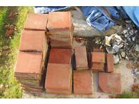 """78 x Reclaimed Platt Terracotta Red Floor/Windowsill Platt 6"""" tiles"""
